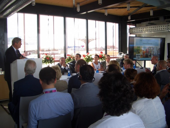 US Sectretary of Agriculture Thomas J. Vilsack and the USSA panel. EXPO MIlano July 3, 2015