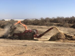 almond orchards recycling